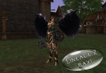 Крылья для сервера LineAge 2 Interlude Black Wings