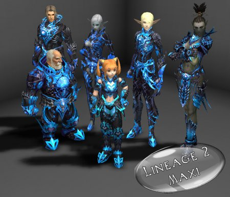 Blue vesper armor by Votya
