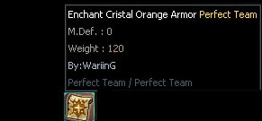 Cristal Enchant Orange Weapon And Armor